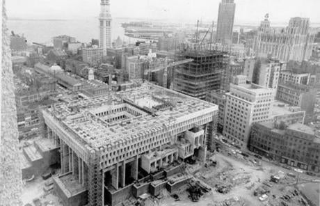A look at Boston City Hall under construction in 1967.